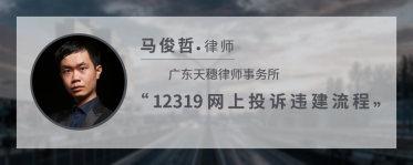 12319网上投诉违建流程