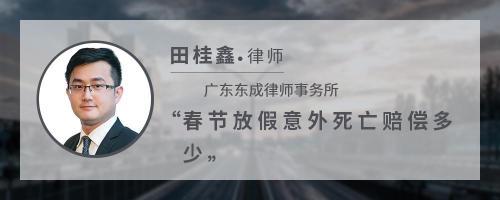 春节放假意外死亡赔偿多少