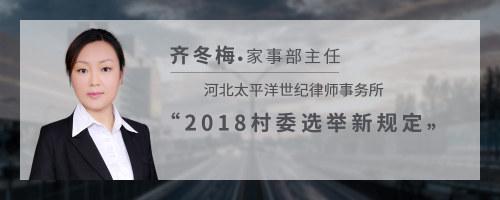 2018村委选举新规定