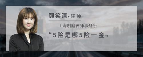 5险是哪5险一金