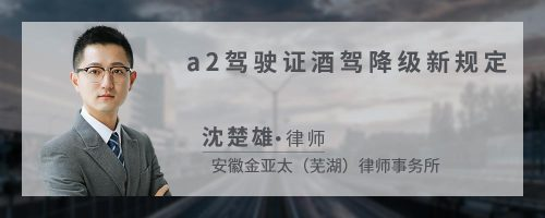 a2驾驶证酒驾降级新规定