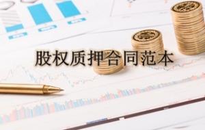 股权质押合同范本