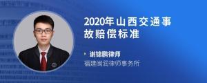 2020年山西交通事故赔偿标准