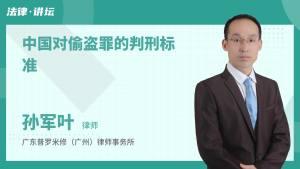 中国对偷盗罪的判刑标准